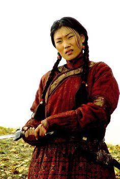 Traditional Eurasian Mongolian Clothes Women