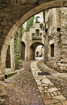Ancient Arches in Cataluna, Spain