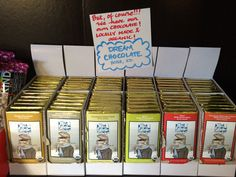 But of course we have our own chocolate. Organic and locally made by Dream Chocolate, right here in Boise, Idaho!