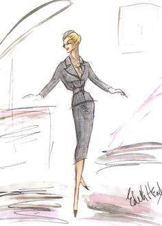 Vertigo - Edith Head sketch of grey suit
