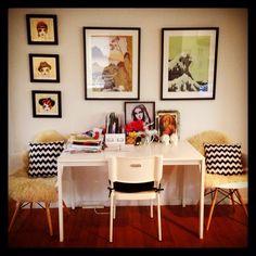 Casa de Amos Office Desk, Corner Desk, Decorating, House, Furniture, Home Decor, Home, Corner Table, Decor