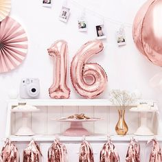 Check out our huge range of foil balloons for party in Melbourne. We deals in decoration party goods and foil balloons to sell distributors and wholesalers. Disco Birthday Party, 16th Birthday, Birthday Ideas, Birthday Parties, Happy Birthday, Rose Gold Number Balloons, Ballon Helium, Party Mottos, Party Suppliers