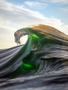 Sometimes, it seems as if waves are simply the ocean at play. Photo by Ray Collins No Wave, Water Waves, Sea Waves, Sea And Ocean, Ocean Beach, All Nature, Amazing Nature, Travel Alone, Bali Travel