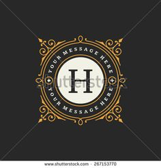Flourishes calligraphic monogram emblem template. Luxury elegant frame ornament line logo design vector illustration. Good for Royal sign, Restaurant, Boutique, Cafe, Hotel, Heraldic, Jewelry, Fashion - stock vector