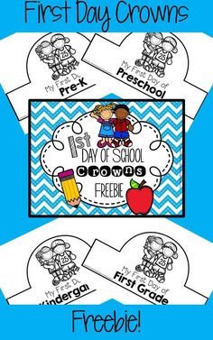 FREEBIE! Includes crowns for preschool, pre-k, kindergarten, 1st grade and 2nd grade.