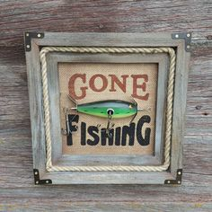 Gone Fishing Signs Decor Rocky Beach Bass Derby Antiqued Wood Sign  Fishing Signs