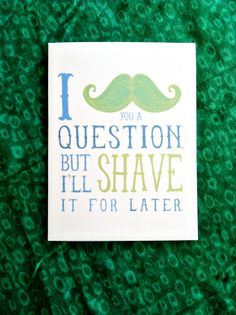Mustache Greetings by Hazelwea Designs on Etsy #mustache #card #greetings