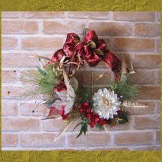マグノリアとダリアのお正月飾り