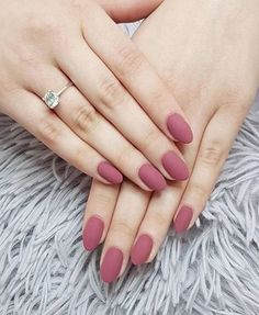 Fairly Mauve Matte nail Designs  #Designs #Matte #mauve #Nail #Pretty 💅