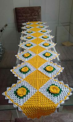 Table centerpiece crochet doily french decor - housewarming crochet rose gift for wife - rose table decoration crochet anniversary runner Crochet Table Mat, Crochet Table Runner Pattern, Crochet Doily Diagram, Crochet Tablecloth, Crochet Flower Patterns, Crochet Squares, Filet Crochet, Crochet Motif, Crochet Designs