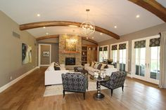 "Clayton Douglas Homearama 2014 home ""Bella Noelle"" Living Room"