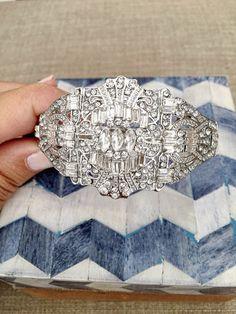 Great Gatsby Bracelet roaring 1920's silver Art Deco by luxycorner