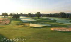 From behind the hole at sunrise. Cricket, Philadelphia, Golf Courses, Sunrise, Club, Inspiration, Biblical Inspiration, Cricket Sport, Sunrise Photography