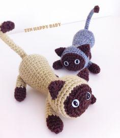 Siamese Cat , Amigurumi Cat. €18.00, via Etsy.