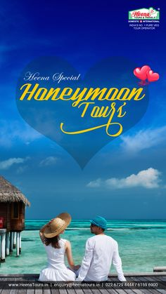 Ab har Navdampati karega honeymoon..!! Heena tours presents fully loaded Honeymoon Tours with our famous Heena's own Gujarati / Marwari Catering.