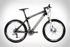 Delta 7 Arantix Mountain Bike.  Using its patented IsoTruss carbon fiber and Kevlar open lattice tube design, Delta 7's Arantix Mountain Bike frame weighs a maximum of only 2.74 lbs