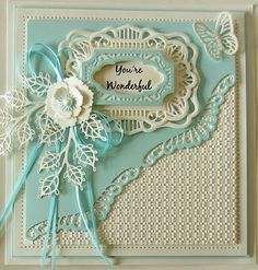 Hi bloggers! I have a pretty diagonal card to share with you today. I started with a piece of coconut white card  and embossed it usin...