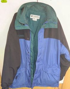 c4289d4c488 Columbia Mens Ski Jacket Coat Large Blue Black Green Removable Liner Mint   Columbia  SkiJacket