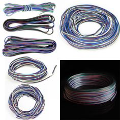New RGB 4 Pin Extension Connector Wire Cable Cord for 3528 5050 RGB LED Strip  2M = $4.77
