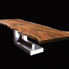 Live Edge Dining Table for your dining room inspiration. In this article also you can make DIY Live Edge Dining Table reduce your cost. Live Edge Furniture, Timber Furniture, Iron Furniture, Steel Furniture, Wood Slab Table, Log Table, Concrete Table, Dinning Room Tables, Modern Dining Table