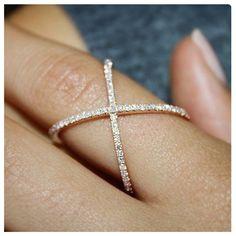Cross cross bling ring