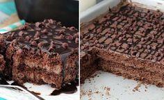 Nepečené čokoládové rezy s tromi druhmi krémov - Báječná vareška
