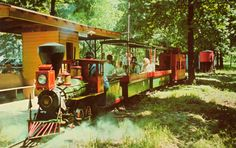 Little Toot Train, used to be right off Rt. 13 near Carterville, Illinois. (Between Marion and Carbondale)  My Grandparents used to take me there all the time.  Loved it! This is a postcard my Grandma had.  And I am so glad she did, I will cherish this postcard forever.