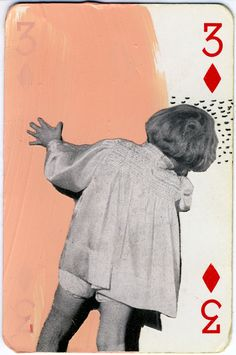 playing cards collages on Behance