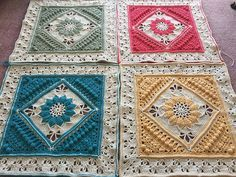 Charlotte's Dream is a crochet blanket that incorporates 12 Charlotte squares in 12 contrasting colours.