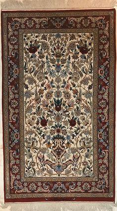Persian Isfahn Rug. 172X112Cm