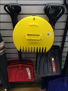 """A Winter Snow Shovel merchandising """"Whatsit"""" for sure. Now if it were Fall I would think this a Hand Scoop… Slat Wall, Shovel, Winter Snow, Mystery, Retail, Dustpan, Sleeve, Retail Merchandising"""