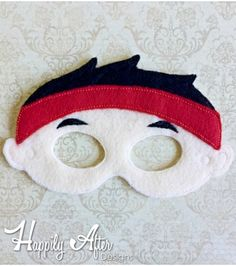 Felt Mask Embroidery Design Bandana Pirate Mask ITH Embroidery Design