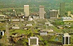 1975 view of the skyline. Photo courtesy of Charlotte-Mecklenburg Historic Landmarks Commission Charlotte Skyline, Charlotte Nc, Living In North Carolina, Australia Day, Old Pictures, Historical Photos, Good Times, Vintage Photos, City Photo