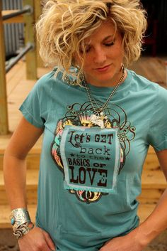 BASICS of LOVe faded turquoise TEE... Let's face it, I just want one of everything Junk Gypsy sells...