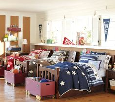 I love the Star Quilt Bedding for the boys, but I will have to find a red one for David on ebay they only have brown and blue now.