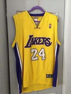 LA Los Angeles Lakers Number   24 Kobe Bryant Genuine Jersey Reebok NBA  Size 48  33c182bca
