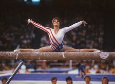 Mary Lou Retton competes on the balance beam during the 1984 Summer Olympics at Pauley Pavilion in Los Angeles. Retton would win five medals at the 1984 Games - one gold (All-Around), two silver (Team, Vault) and two bronze (Uneven bars, Floor).