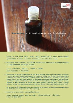 Workshop * Aromaterapia do Cotidiano