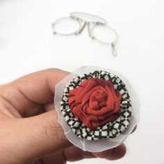 Striking red rose lapel flower grooms by BlueLilyMagnolia on Etsy