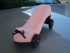 Now that is MY  Pinewood Derby Car this year... BUT way NOT in Pink!!!!!