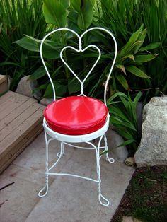 Vintage Valentines sweetheart chair