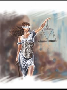 Lady Justice. Artist: Robert O. Mayhew (Rom)