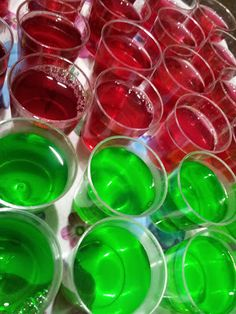 Recipe - Raspberry Vodka and Lime Rum Jelly Shots (makes 40)