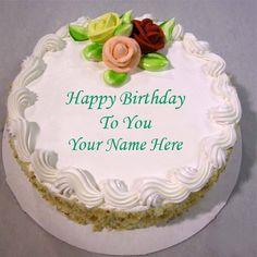 Wish You Happy Birthday Cake With Name Editor Hbd Cake Happy