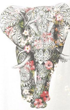 ideas for tattoo elephant color zentangle