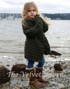 CROCHET PATTERN-The Thurston Sweater 2 3/4 5/7 by Thevelvetacorn