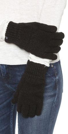 Plush Fleece Lined Metallic Texting Gloves | SHOPBOP