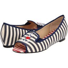 J. Renee open toe sailor flats 10 Worn once! Excellent pre-loved condition!  ✅offers ❌tradesbundles save 20% off 2+. J. Renee Shoes Flats & Loafers