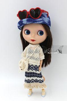 Girlish  Bohemia Set for Blythe doll  dress / outfit