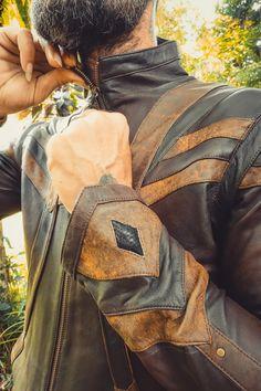 Taurid leather mens cut jacket